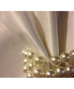 WHITE SATIN NAPKINS DETAIL ALNADA