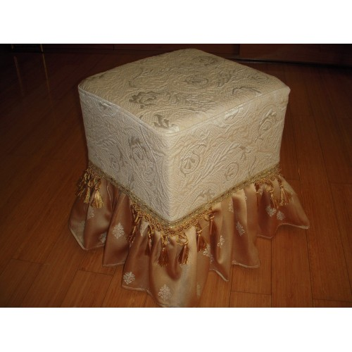 DECORATIVE COVER FOR FOOTSTOOL, SATIN