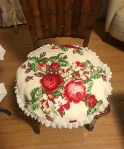 Okrugli jastučići za stolice goblen ruža