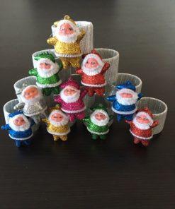 Prstenovi za salvete Glam deda mraz