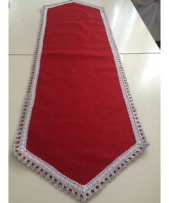 TABLE RUNNER WITH SILVER RIBBON ALNADA