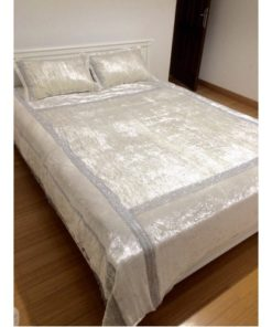 BEDSPREAD FOR DOUBLE BED SILVER 1