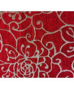 FESTIVE RED BLACK TABLE RUNNER DETAIL ALNADA