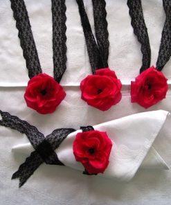 Ukrasna traka za salvete ruža