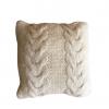 Ručno pleteni vuneni jastuk trostruke pletenice