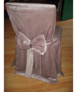 DECORATIVE CHAIR COVER WRINKLY SATIN