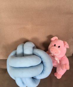 Alnada decorative Knot pillows Blue