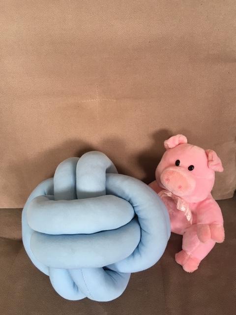 Alnada klupko jastuk plavi