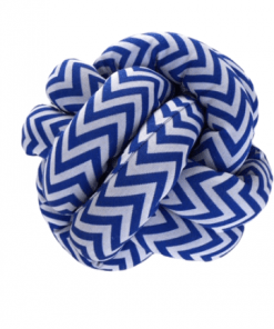 Dekorativni klupko jastuci Cik cak print marinsko plavi