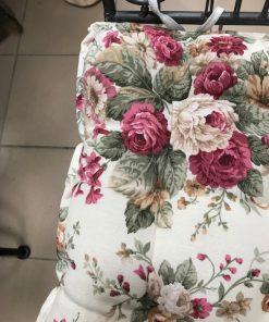Cushion for chair floral motif