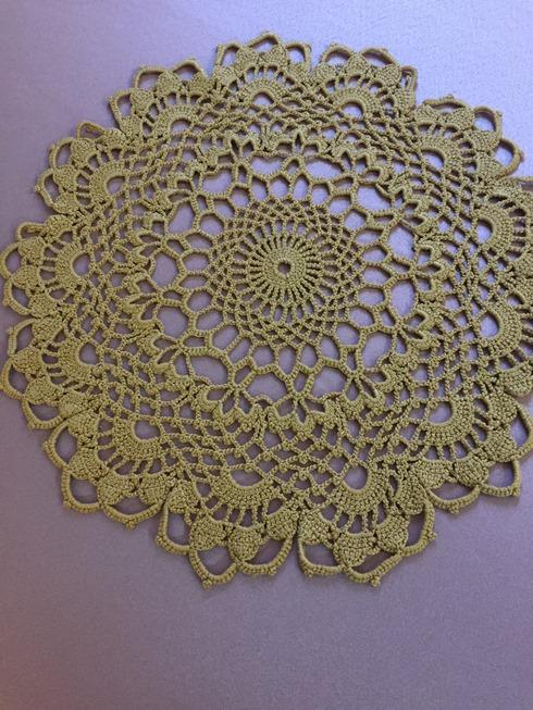 Satin Tablecloth With Crochet Insert Al Nada