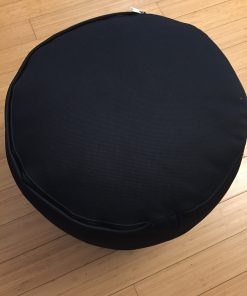 Supportive pouf pillow for yoga Black