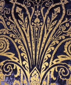 Plush tablecloth with gold print