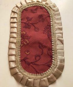 Alnada ovalne šustikle Mebl sa saten pliseom