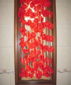 Dekorativna trakasta zavesa makovi
