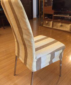 Navlaka za stolicu prugasti mebl detalj