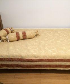Prekrivač za singl krevet Bež braon