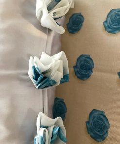Prekrivači za krevet samac Detalj ružice