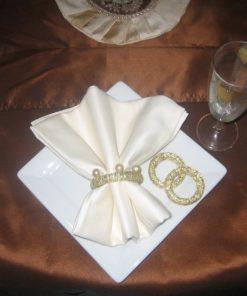 Prstenovi za salvete Zlatna traka