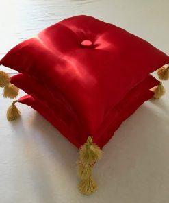 Alnada ceremonijalni jastuci Crveni saten