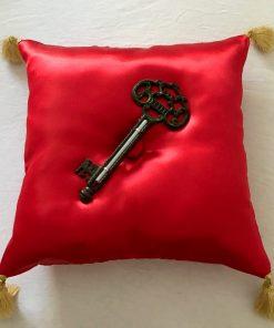 Alnada ceremonijalni jastuk Crveni saten