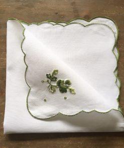 Alnada lanene salvete Zeleni vez naličje