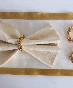Alnada prstenovi za salvete Zlatne perle