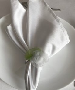 Al Nada white satin restaurant napkins