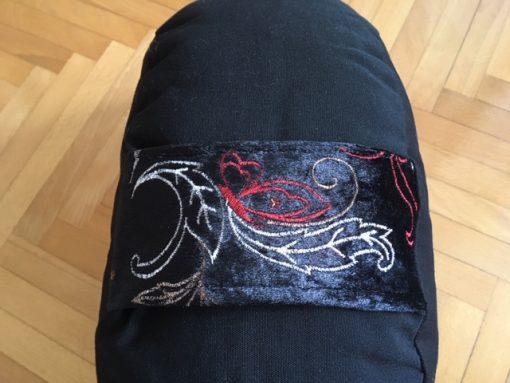 Alnada jastuk za jogu polumesec crni