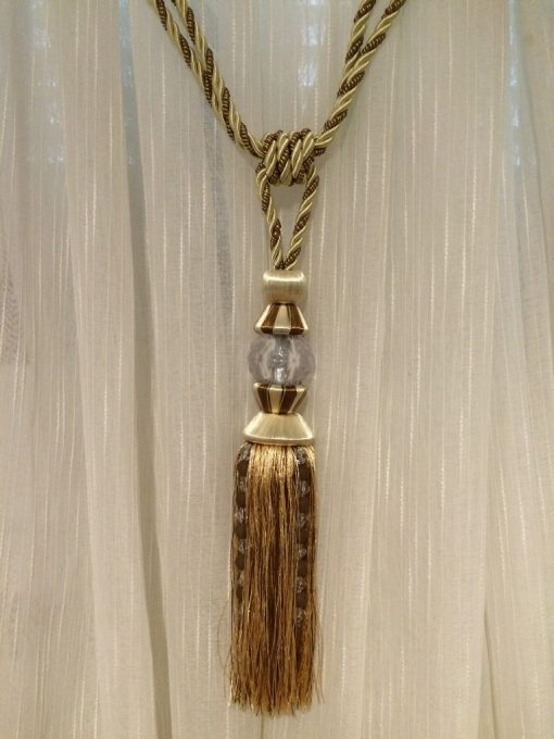ržač za zavese Svilena kićanka sa kristalom