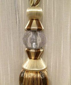 Držač za zavese Svilena kićanka sa kristalom detalj