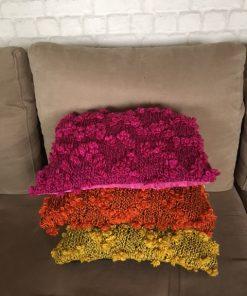 Ručno pleteni jastuci od bukle vune Narandžasti