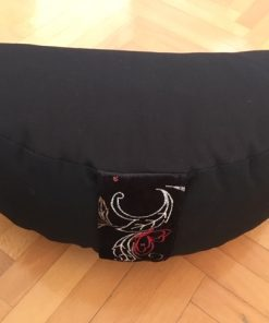 Jastuk za jogu polumesec crni