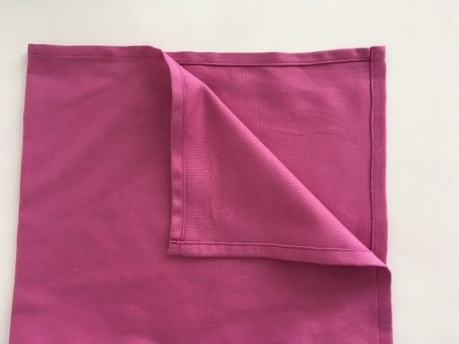 Pamučna salveta tamno roze Porub