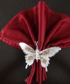 Prsten za salvete Srebrni leptir detalj