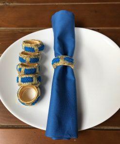 Restoranske damast salvete Plave