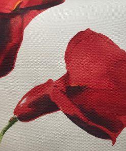 AlNada dekorativni jastuci Bež rips sa crvenim cvetovima manji detalj