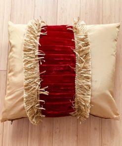 AlNada stilski jastuci Zlatni taft i crveni pliš