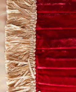 AlNada stilski jastuci Zlatni taft i crveni pliš rese