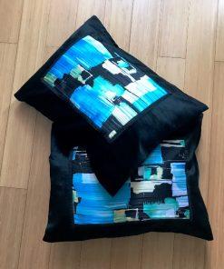 Alnada moderni deko jastuci Apstraktni plavi motiv 2