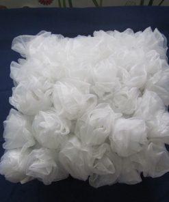 Deko jastuk bele ruže