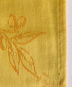 Pamučne salvete sa uzorkom masline u tkanju Žute porub