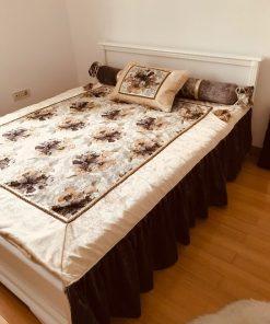 AlNada dekorativni prekrivači za bračni krevet Jesenje ruže bočno
