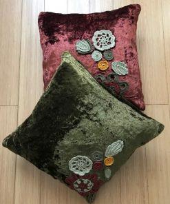 AlNada unikatni jastuci Plišani sa heklanim aplikacijama