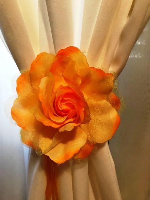 Držači za zavese Žuta ruža