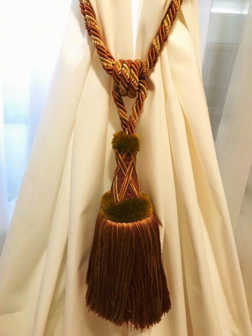 Držači zavesa Braon zlatni