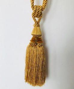 Držači zavesa Zlatni gajtan sa resama