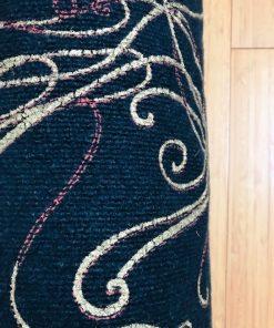 Torbe za joga prostirke Crni somot sa linijama detalj