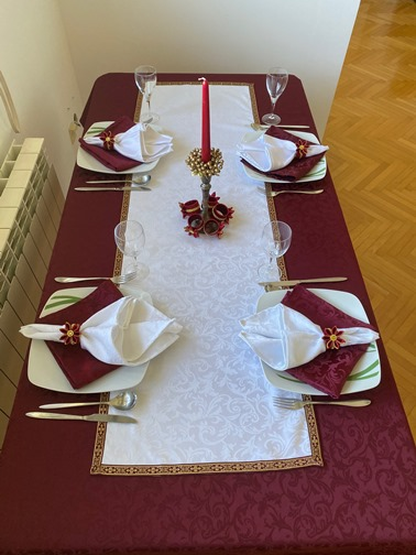 A FORMALLY DECORATED TABLE