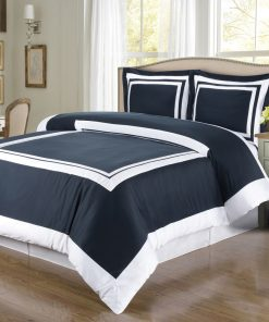 Bedspread for double bed Blue White